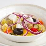 Греко салат (огурцы, помидоры, болгарский перец, сыр Фета)