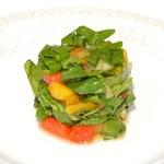 Овощи на гриле с молодым шпинатом (150 гр.)