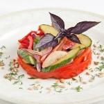 Овощной салат Времена года (сезонные овощи регионов России с душистым маслом)