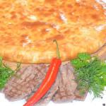 Осетинский пирог с мясом (молодой барашек/телятина) и острым перцем