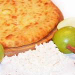 Осетинский пирог с сочным яблоком и домашним творогом